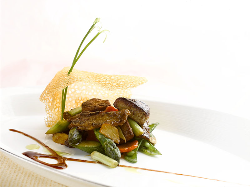 Sauteed Peking Duck with Pan Seared Foie Gras for Gourmet Adventures