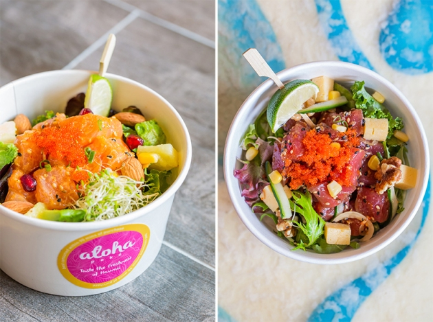 Aloha Poke - Salmon in Spicy Sauce; Ahi Tuna in Original Sauce - Review by Gourmet Adventures