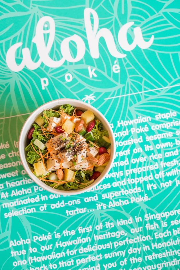 Aloha Poke - Standard Nalu - Tofu in Nutty Sesame Sauce - Review by Gourmet Adventures
