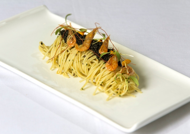 Portico Prime at Dempsey Hill - Truffle Scented Angel Hair Pasta - Review by Gourmet Adventures