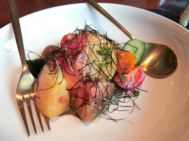 Tomato Salad - Adrift by David Myers - Review by Gourmet Adventures