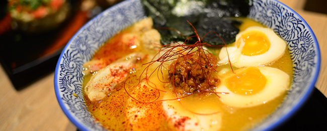 menya takeichi chicken ramen panel-gourmet adventures