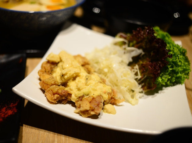 Menya Takeichi - Fried chicken with tartar sauce - Review by Gourmet Adventures